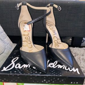 Pre-Owned: Sam Edelman Harlow Black Pump Size 10.